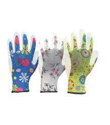 Rękawice ochronne wykonane z poliestru, powlekane poliuretanem RGARDEN-PU