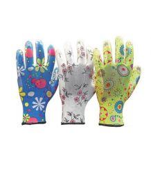 Rękawice ochronne wykonane z poliestru, powlekane nitrylem RGARDEN-NI
