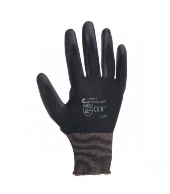 Rękawice Bunting Black EVOLUTION z nylonu, bezszwowe, powlekane PU