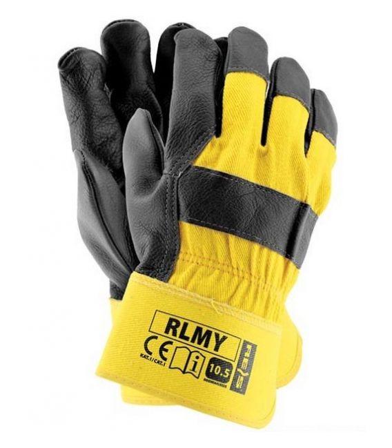 Rękawice ochronne wzmacniane skórą bydlęcą RLMY