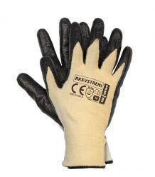 Rękawice powlekane wykonane z przędzy stretch-kevlar RKEVSTRENI