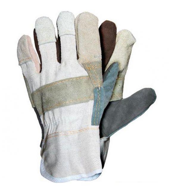 Rękawice ochronne wzmacniane skórą bydlęcą RBK