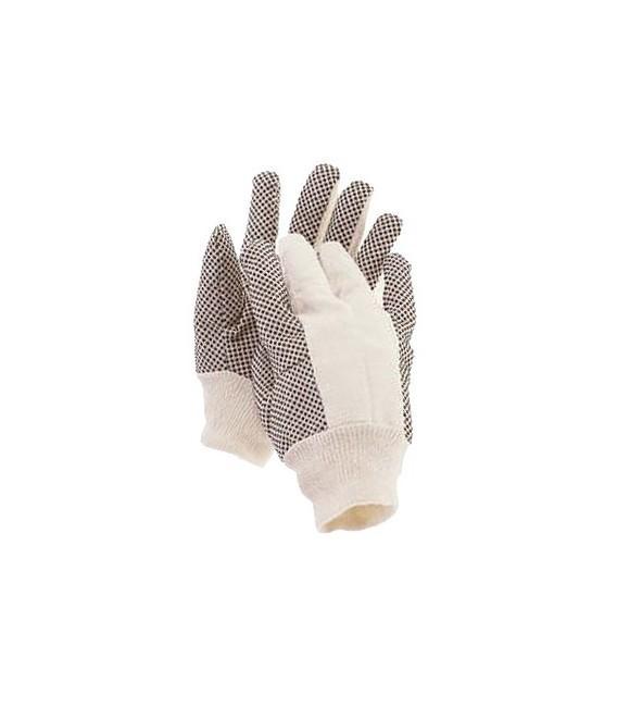 Rękawice drelichowe robocze nakrapiane PCV