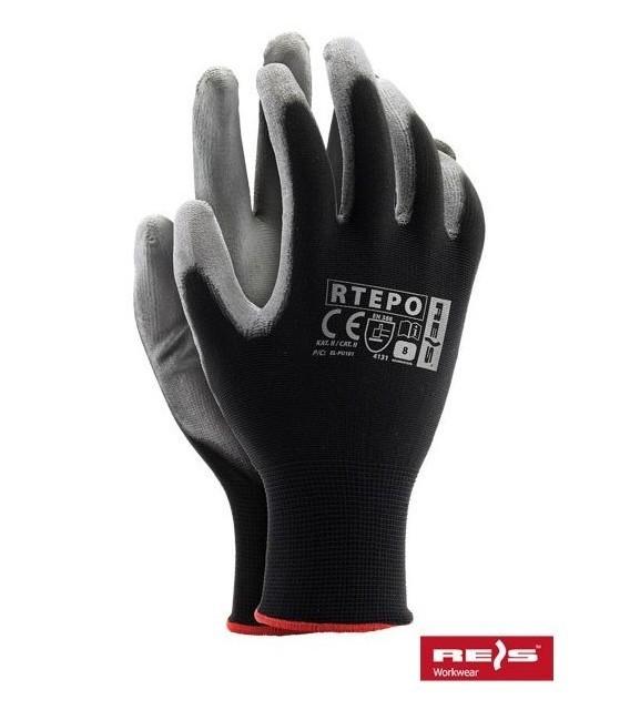 Rękawice powlekane poliuretanem czarne RTEPO