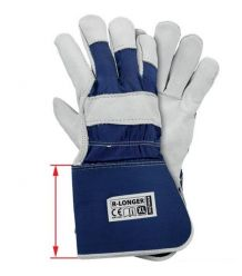 Rękawice ochronne wzmacniane skórą bydlęcą R-LONGER