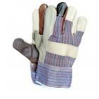 Rękawice wzmacniane skórą licową TĘCZA RLKPAS