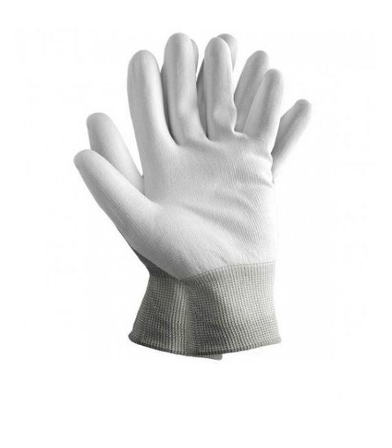 Rękawice powlekane poliuretanem białe RTEPO