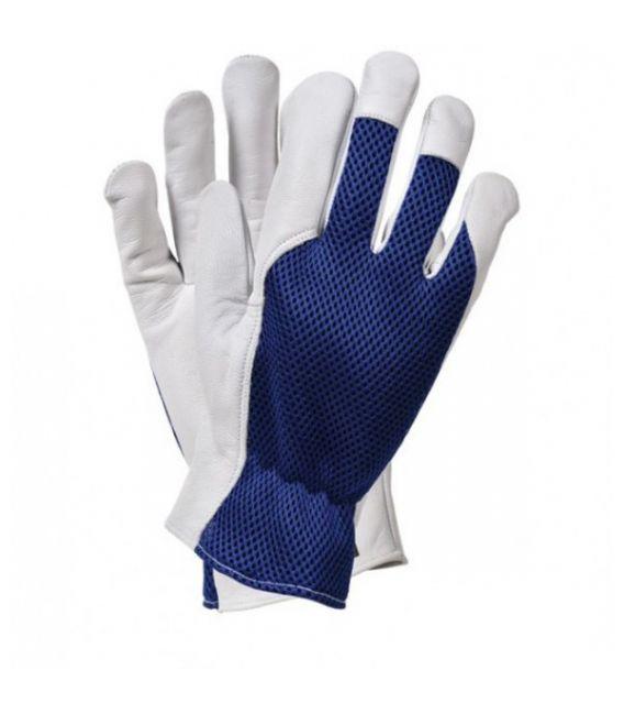 Rękawice skórzano-tkaninowe, kozie RLTOPER-MESH