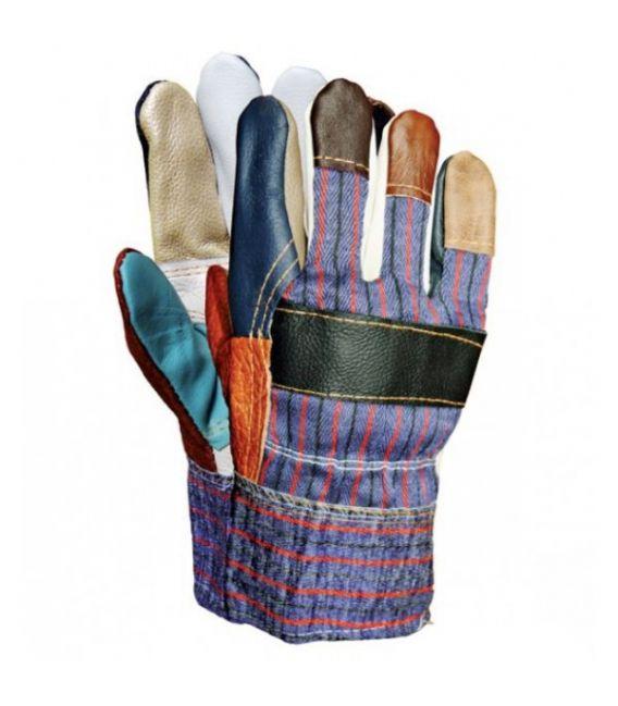 Rękawice ocieplane, wzmacniane skórą licową RLKOPAS