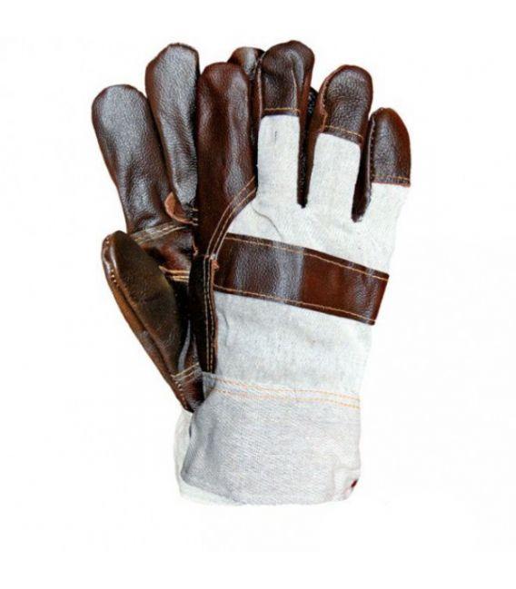 Rękawice ocieplane, wzmacniane skórą licową RLO