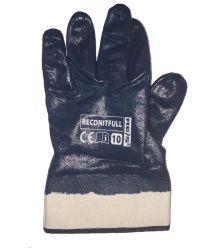 Rękawice powlekane nitrylem, zakończone usztywnianym mankietem RECONITFULL