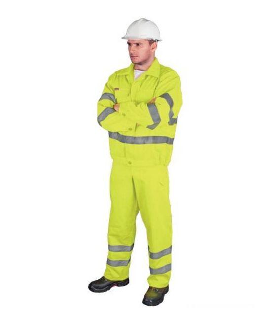 Ubranie robocze odblaskowe kurtka i ogrodniczki UL