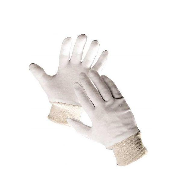 Rękawice ochronne bawełniane ze ściągaczem TIT
