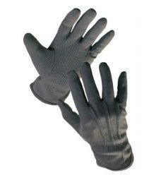 Rękawice bawełniane czarne z mikronakropieniem PCV, frak BUSTARD