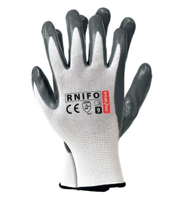 Rękawice powlekane spienianym nitrylem RNIFO