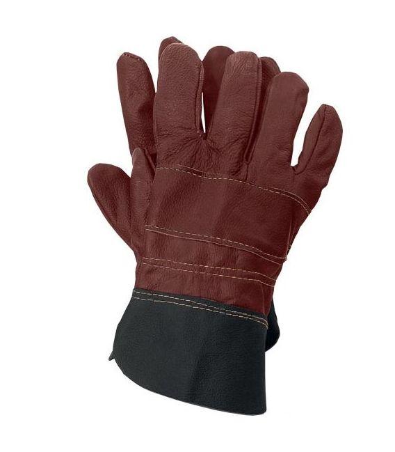 Rękawice skórzane, skóra bydlęca licowa RLCS