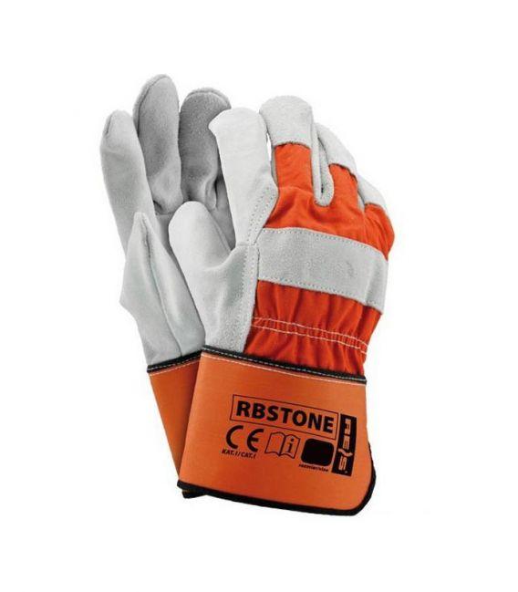 Rękawice ochronne wzmacniane skórą bydlęcą RBSTONE