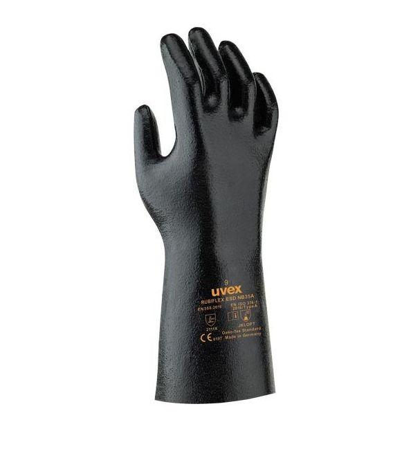 Rękawice antystatyczne gumowe ochronne RUBIFLEX ESD UVEX