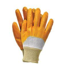 Rękawice ochronne, powlekane nitryl lekki RECONIT żółty