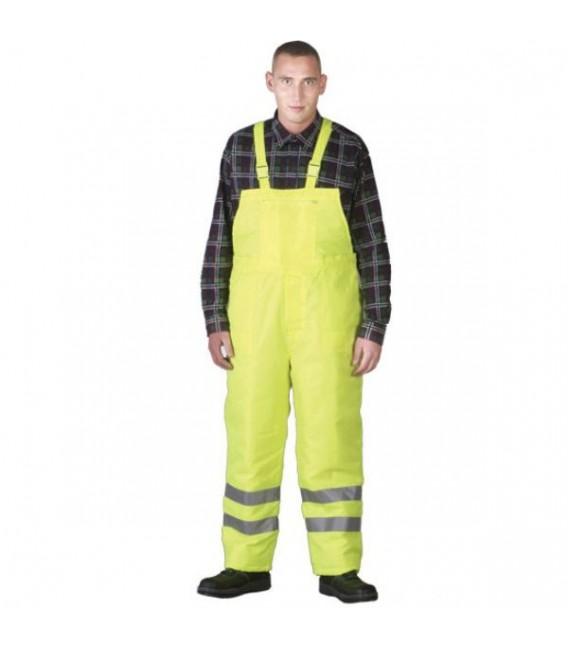 Spodnie robocze ogrodniczki zimowe odblaskowe S-VIS żółte