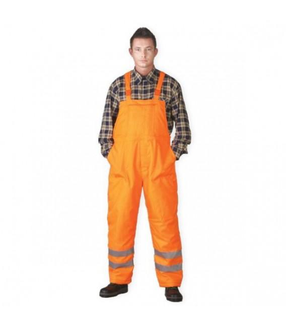 Spodnie robocze ogrodniczki zimowe odblaskowe S-VIS pomarańczowe