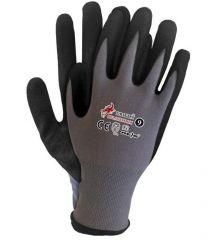 Rękawice ochronne z nylonu powlekane spienianym nitrylem RBLACKFOAM