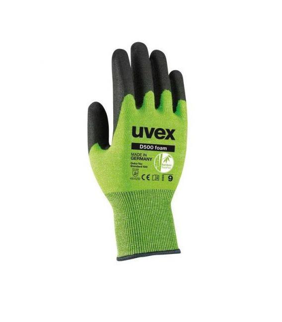 Rękawice ochronne powlekane D500 FOAM UVEX