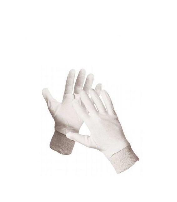 Rękawice bawełniane białe ze ściagaczem CORMORAN