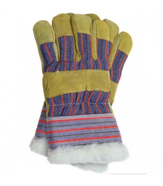 Rękawice ocieplane, wzmacniane skórą bydlęcą RSO