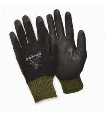 Rękawice powlekane poliuretanem czarne POLROK PK 600 B