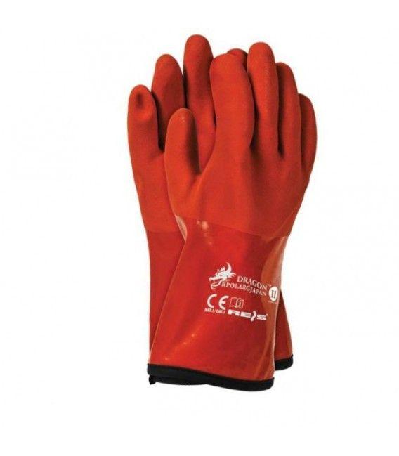 Rękawice termoodporne i wodoodpore z PCV, RPOLARGJAPAN rozm. 11