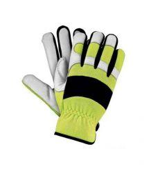 Rękawice wykonane z wysokiej jakości skóry bydlęcej połączonej z materiałem spandex RMC-MERATON