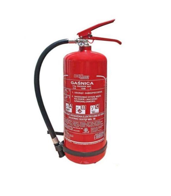 Gaśnica proszkowa 4 kg do gaszenia pożarów grupy ABC BX-GP-4XABC-O