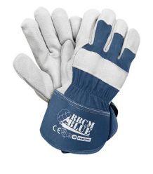 Rękawice ochronne wzmacniane skórą bydlęcą RBCMBLUE