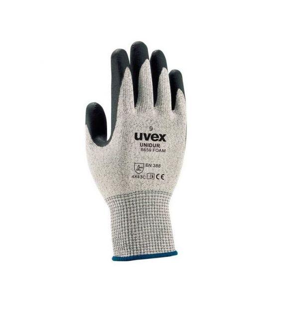 Rękawice antyprzecięciowe z włóknem szklanym UNIDUR 6659 UVEX