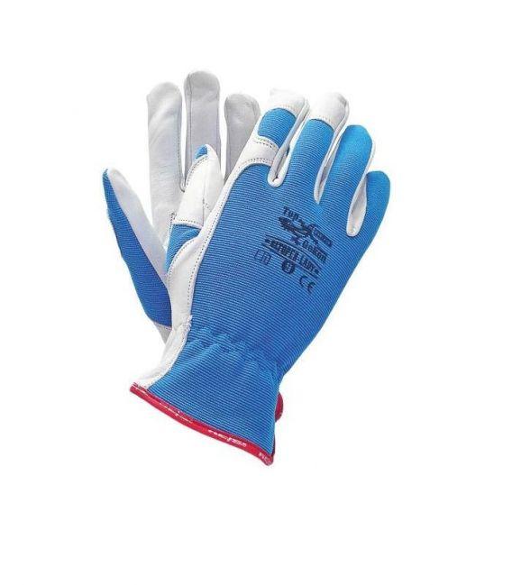 Rękawice z wysokiej jakości skóry koziej RLTOPER-LADY