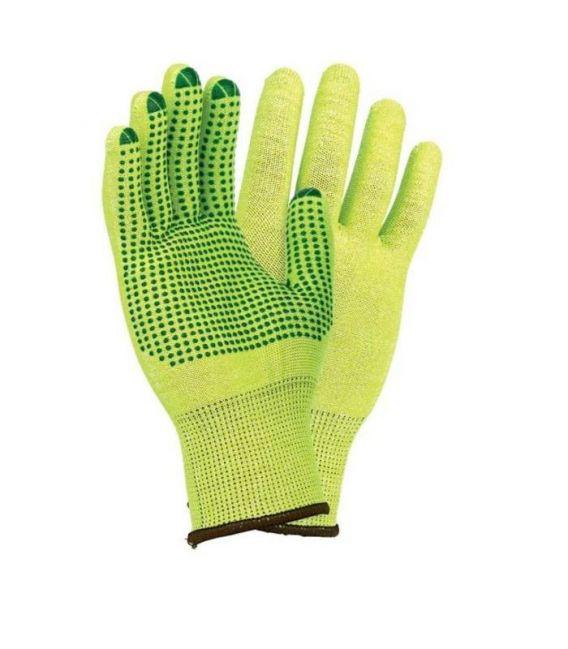 Rękawice dziane, wysoka odporność na rozdarcie z jednostronnym nakropieniem RJ-POLV