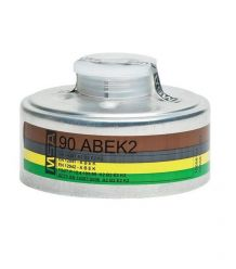 Pochłaniacz gazowy MSA 90 ABEK 2 do masek z złączem gwintowym typ A2B2E2K2