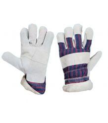 Rękawice ocieplane kożuszkiem wzmacniane skórą RDBOA