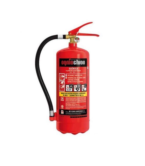 Gaśnica proszkowa 4 kg do gaszenia pożarów grupy ABC