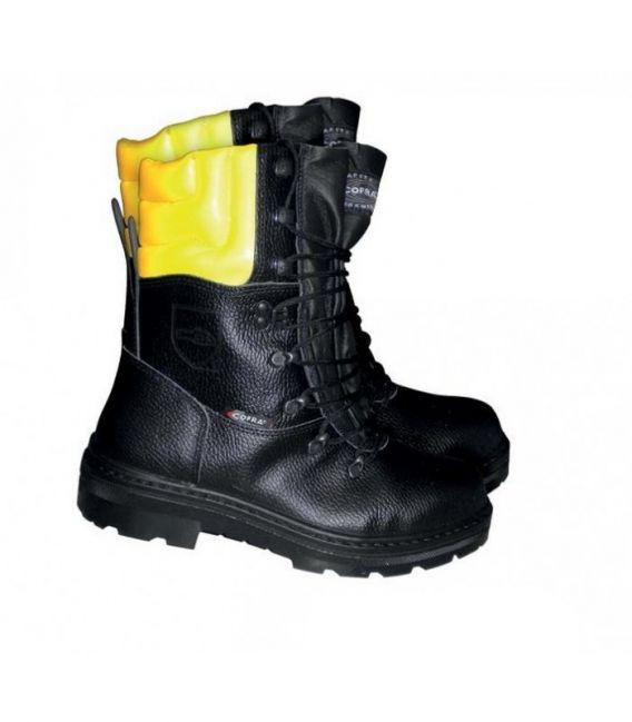 Buty robocze dla drwali z zabezpieczeniem przed przecięciem piłą BRC-WOODSMAN
