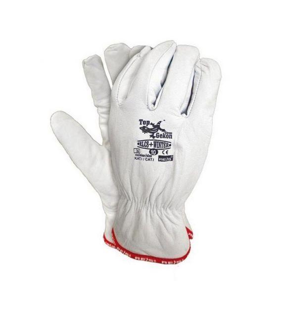 Rękawice ocieplane skórzane wysoka jakość koza RLCS+WINTER