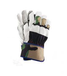 Rękawice ochronne wykonane z wysokiej jakości skóry bydlęcej RFORESTER
