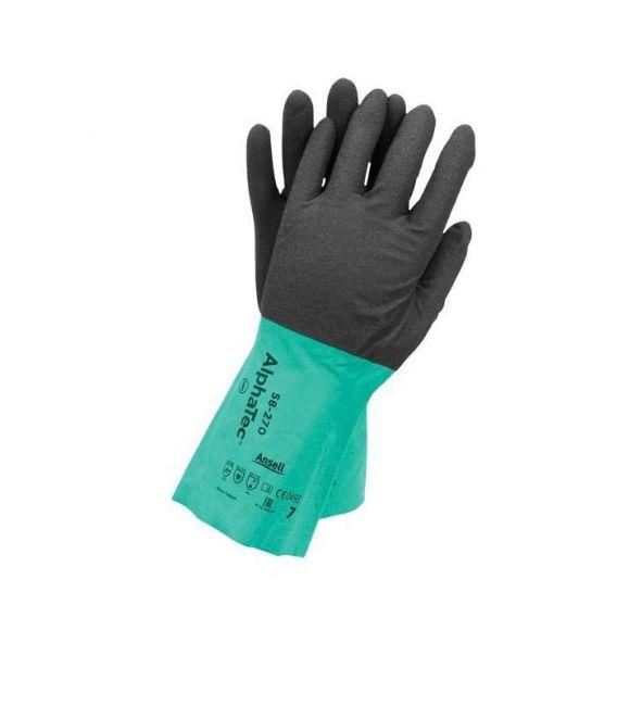 Rękawice chemoodporne NITRYLOWE Ansell AlphaTec® 58-270