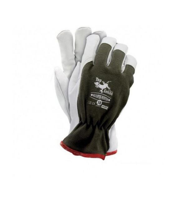 Rękawice ocieplane, wzmacniane skórą licową, kozią RLTOPER-WINTER