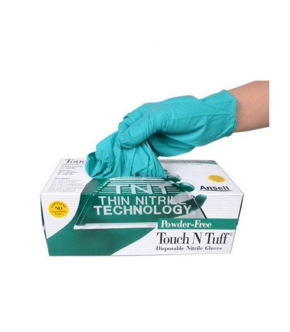 Rękawice jednorazowe chemoochronne nitrylowe Ansell TOUCHNTUFF® 92-600
