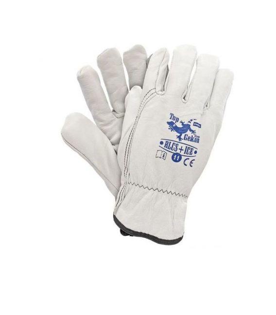 Rękawice ocieplane wzmacniane skórą kozią RLCS+ICE