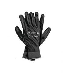 Rękawice ochronne wykonane z nylonu, powlekane nitrylem RNIFO-FULL zakończone ściagaczem