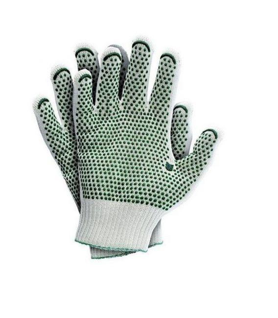 Rękawice dziane poliamid HT z jednostronnym nakropieniem RJ-HTV