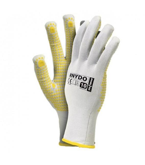 Rękawice dziane nylon kropka RNYDO